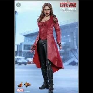 1/6 scale toy female boot for scarlet witch