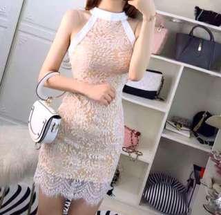 🚚 白色蕾絲洋裝