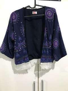 CUCI GUDANG Outer kimono navy