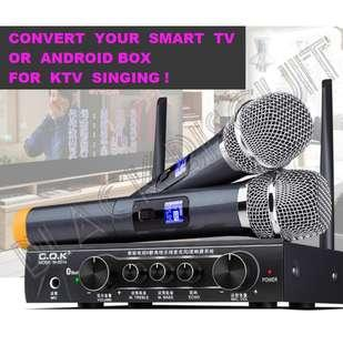 🚚 Karaoke Wireless Microphone Mixer Receiver System