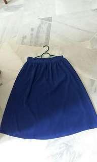 Blue Midi Skirt #POST1111
