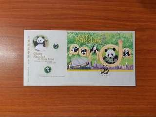 1999 Giant Pandas in Hong Kong First Day Cover