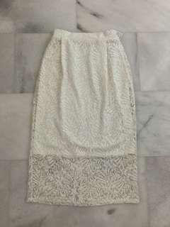 BNWT Japanese Style Fashionable Lace Motif Skirt