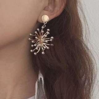 BNIB Gold Fireworks Earrings