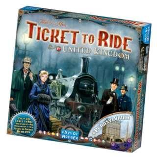 Ticket to Ride: United Kingdom Map