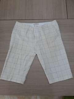 Celana Santai Broken White Kotak Kotak