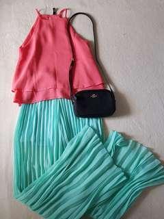 Halter Top and Pleated Pants OOTD Bundle #6