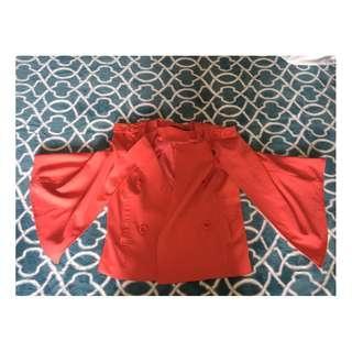 Drape Slit Fashion Coat