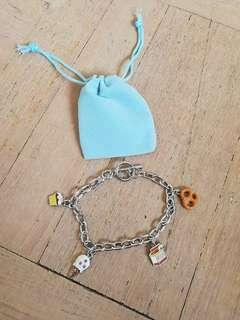 BN Bracelet silver food charms