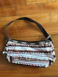 LeSportsac Sling Mini Bag as new Brown Striped Cute