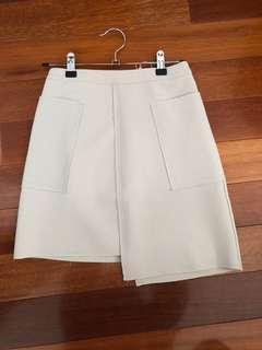 Grey mini asymmetrical skirt