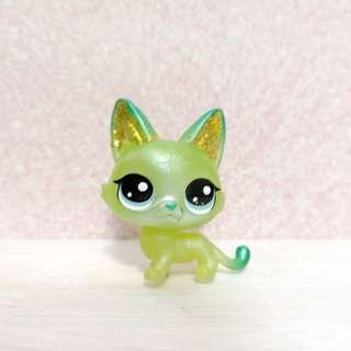 Littlest pet shop lps small sparkle cat (unreleased in SG)