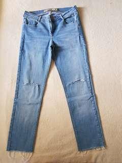 Zara Cropped Knee-ripped Pants