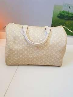 Cream Colour LV Louis Vuitton Speedy Monogram Idle