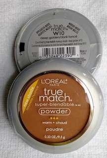 Made in USA #W10 L'Oreal Paris True Match Super-Blendable Powder in Deep Golden
