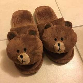 Cute bear winter flip flop