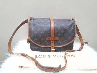 Preloved Good Condition Louis Vuitton Saumur PM tahun 1993 Size 28x22x12 With dustbag