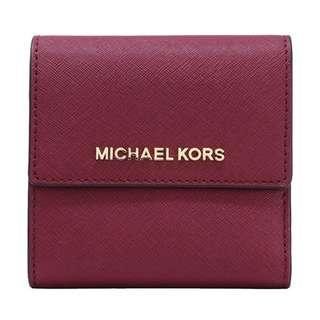 Michael Kors Jet Set Travel Small Carryall Wallet Mulberry