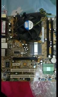 華碩 P5G3 主機板  CPU 風扇 一組買