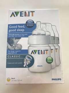 BNIB Classic Feeding Bottle AVENT (3 bottles)