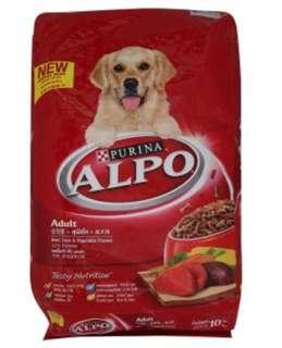 Purina Alpo Dog Food, Chicken Liver and Vegetable, 10kg, Brand New Pack, un open.