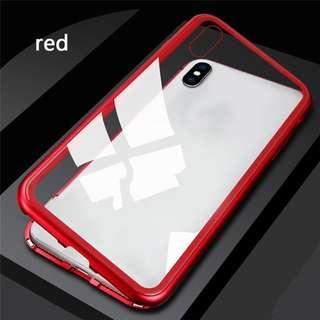 Magnetic bumper Case for Iphone 6 to Iphone X
