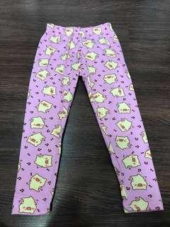 Used once cute pig pink leggings