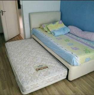 Dunlopillo pull-out bed