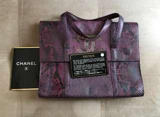 VGC CHANEL Iridescent Python Small CC Handbag Purple #5 complete with bag,booklet,holo,card,replacement db