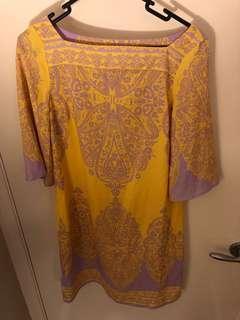 NY&C yellow/lilac xs shift dress