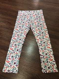 4t Washed but not worn floral leggings for girls