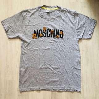 (READY STOCKS) Grey moschino tshirt size L