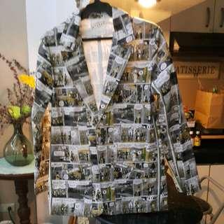 Comic Strip Print Blazer - Mens