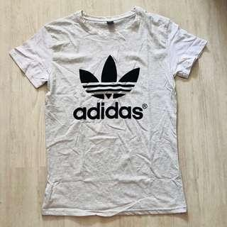 (READY STOCKS) Light grey adidas tshirt