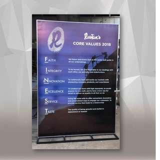 Lighted Box Standee
