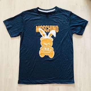 (READY STOCKS) blue moschino bear tshirt size M