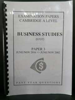 Business A-Level past year paper