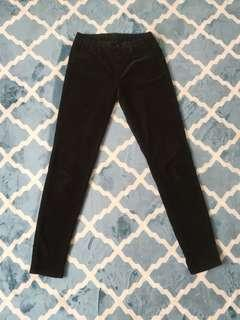 Uniqlo corduroy skinny jeans in dark emerald green