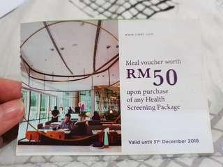 Meal voucher worth RM50
