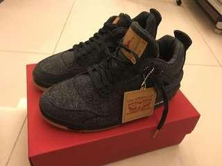 Levi's air Jordan 4 black 7y