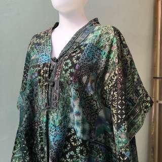 Blouse batik Hijau