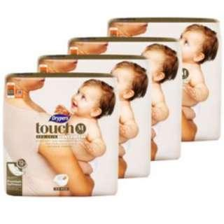 Drypers Touch M Diapers 4 x 64pcs