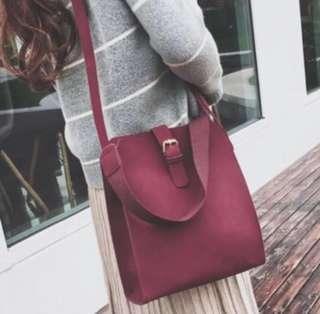 🆓📮Wine Red Sling Bag