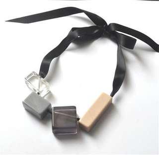 Geometric Tie Necklace