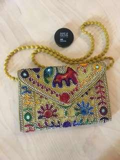 LAST ONE - Funky boho cloth sling bag / envelope clutch / handbag #next30