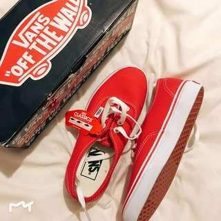 Vans classic red size 6.5