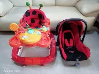 Baby Carseat/Carrier & Walker