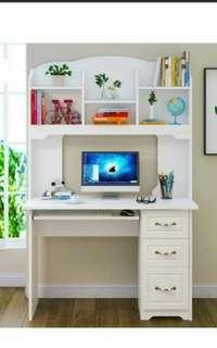 Study table with shelves white INSTOCKZ!