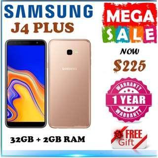 Samsung J4 Plus 32GB + 3Gb Ram / 1 Year Samsung Warranty