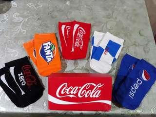 MOVING OUT SALE!!! COCA-COLA PEPSI Unisex Iconic Ankle Socks Box Set